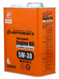 Масло моторное  5W-30  AUTOBACS ENGINE OIL API SN/CF ILSAC GF-5 SYNTHETIC (4л)