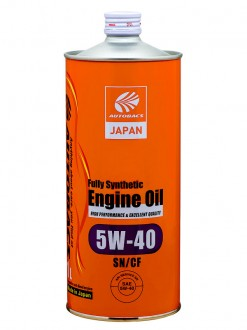 Масло моторное  5W-40  AUTOBACS ENGINE OIL API SN/CF SYNTHETIC (1л)