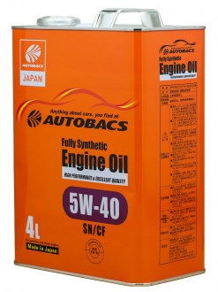Масло моторное  5W-40  AUTOBACS ENGINE OIL API SN/CF SYNTHETIC (4л)