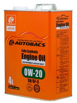 Масло моторное  0W-20  AUTOBACS ENGINE OIL API SN ILSAC GF-5 SYNTHETIC (4л)