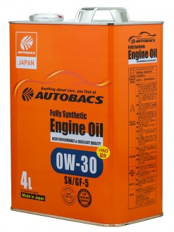 Масло моторное  0W-30  AUTOBACS ENGINE OIL API SN ILSAC GF-5 SYNTHETIC (4л)