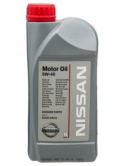 Масло моторное  5W-40  NISSAN SM/CF A3/B4 Synthetic (1л)
