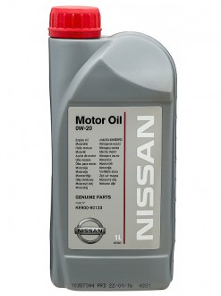 Масло моторное  0W-20  NISSAN SL/CF A5/B5 Synthetic (1л)