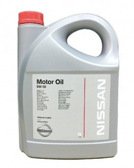 Масло моторное  5W-30  NISSAN SL/CF A5/B5 Synthetic (5л)